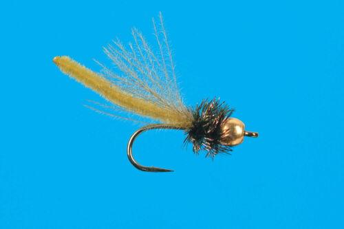 Gold Bead Peeking Caddis 6 pcs size 14