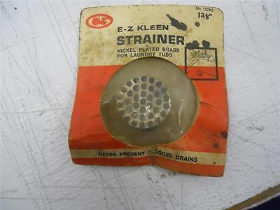 "Home & Garden Trend Mark Cs 1279c 1 3/8"" Nickel Plated Brass E-z Kleen Strainer For Laundry Tubs Online Shop"