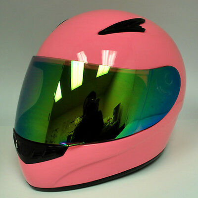 New Youth Kids Motorcycle Full Face MX ATV Dirt Bike Helmet Pink Size S M L XL