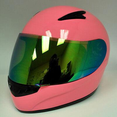 New Youth Kids Motorcycle Full Face MX ATV Dirt Bike Helmet Pink Size S M L XL