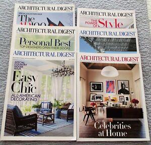 6 Architectural Digest 2016 International Design Magazine 4321 Ebay