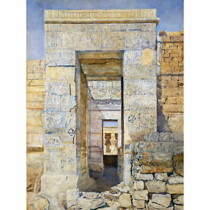 Newman-East-Entrance-Isis-Temple-Philae-Egypt-Painting-Large-Canvas-Art-Print