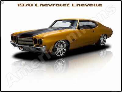 1965 Chevrolet Chevelle Malibu SS New Metal Sign Pristine Restoration