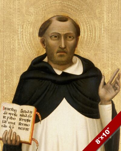 ST THOMAS AQUINAS PORTRAIT PAINTING CATHOLIC CHURCH PRIEST ART REAL CANVAS PRINT
