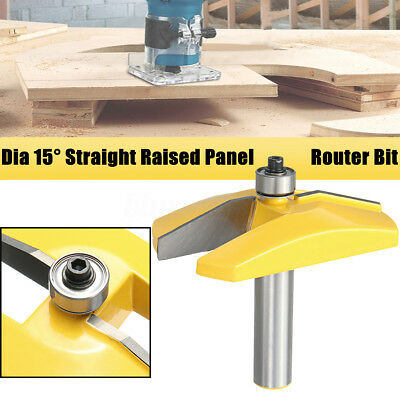 3-1/2'' Dia 15° Straight Raised Panel Molding Router Bit Woodworking Cutter Tool