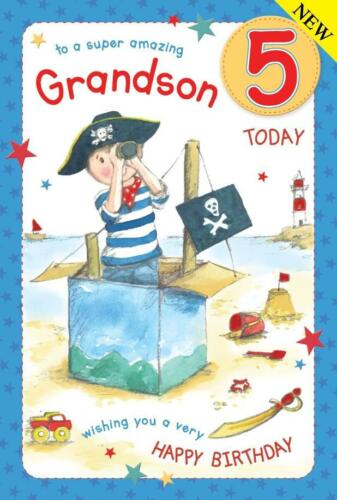 GRANDSON BIRTHDAY GREETINGS CARDS AGE 5     206195
