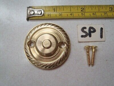 SP 1 ref A SOLID LACQUERED BRASS ROPE EDGED DOOR KNOCKER STRIKER PLATE 38 mm