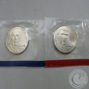 1975-P and 1975-D Uncirculated Jefferson Nickels in Original Mint Cello Packs
