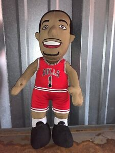 Rare-Derrick-Rose-Chicago-Bulls-Bleacher-Creatures-NBA-Plush-Figure-11-Red