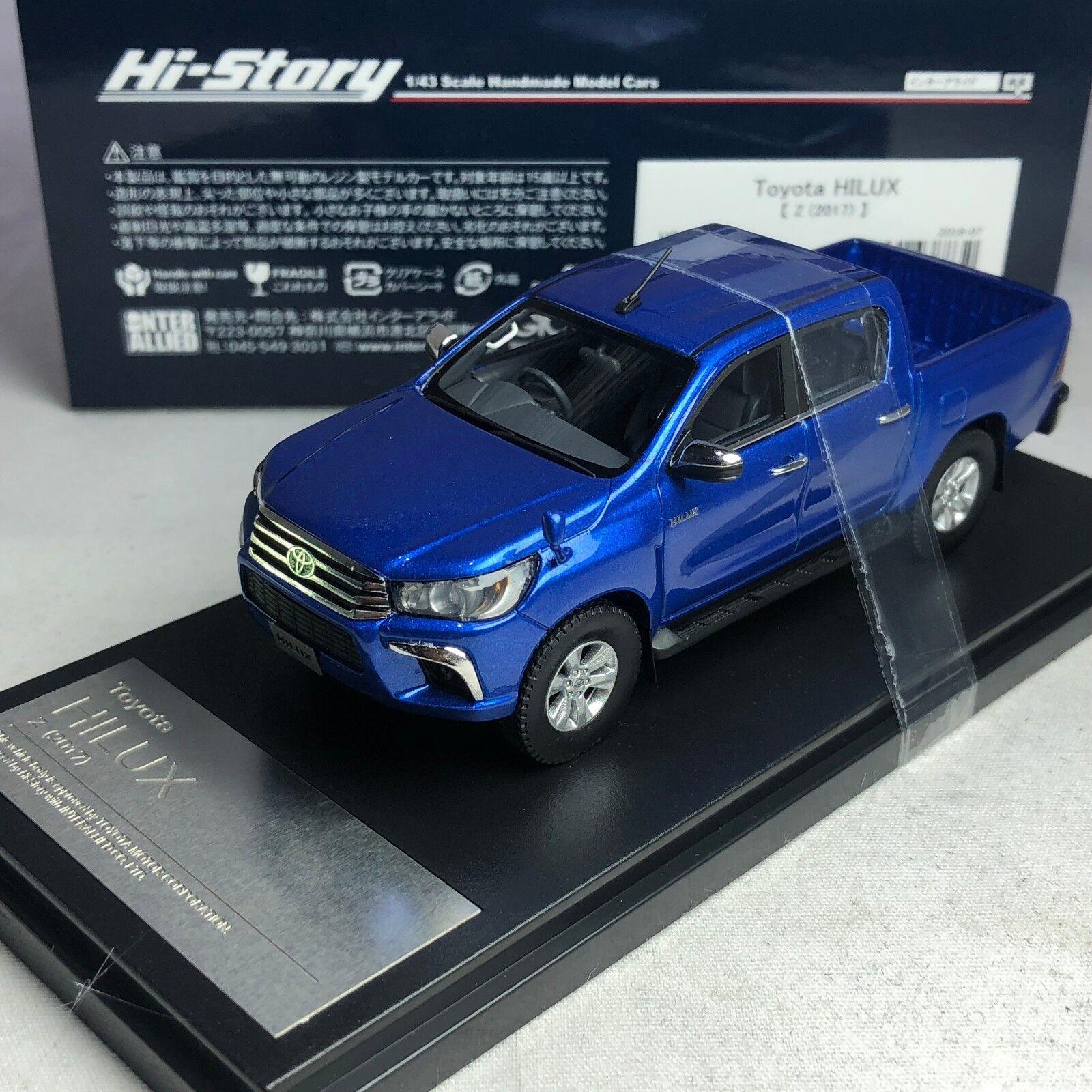 1 43 Hi-Story Toyota Hilux Z (2017) nepular Bleu Métallique HS204BL NEUF