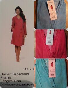 ec917475f0 Das Bild wird geladen Comtessa-Damen-Frottee-Kimono-Bademantel-Saunamantel- Morgenmantel