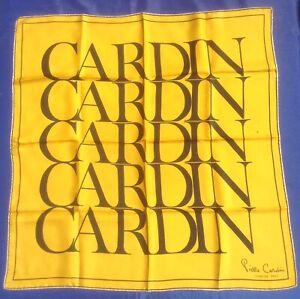 Charitable Vrai Vintage Années 1970 Pierre Cardin Jeunesse Signature Silk Scarf-afficher Le Titre D'origine