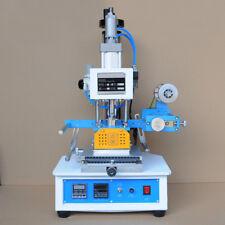 Nzl 110v Pneumatic Hot Foil Stamping Press Machine Stamp 116x120mm Logo Printer