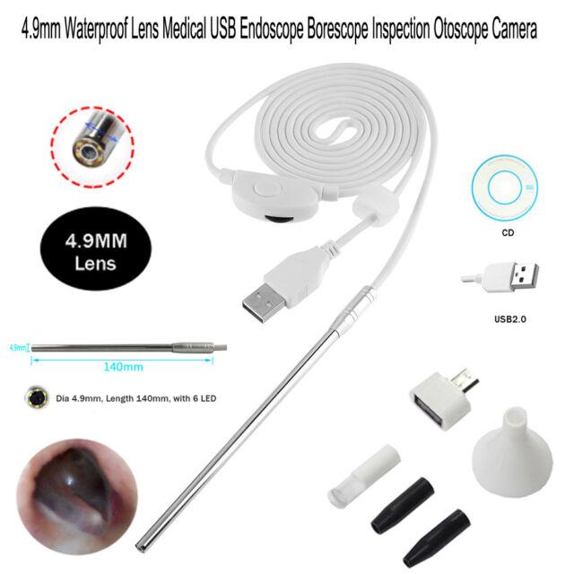 4.9mm Lens Medical USB Ear Nose Borescope Inspection Otoscope Endoscope Camera