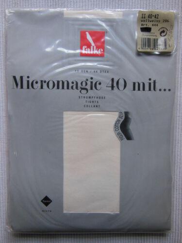 44-46 Falke Micromagic 40 Strumpfhose Vintage 40 Den wollweiss Gr