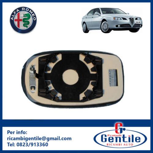Alfa Romeo 166 98-03 PIASTRA TERMICA SPECCHIO RETROVISORE DESTRO VETRO BLU