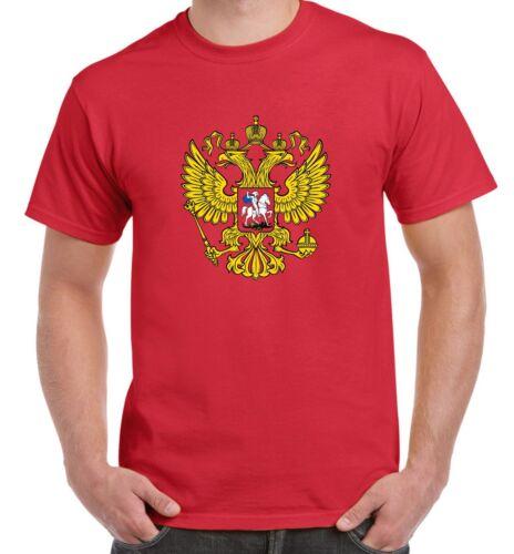 Russian Coat Of Arms Flag Men/'s T-Shirt Football Athletics Russia