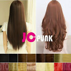 "19""23""27""Synthetic straight/curly one piece hair extensions 3/4Full head clip in"