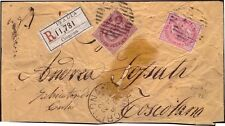 REGNO 1884 - 10+40 c. n. 60+T20 MISTA DUE RE CREMONA x TOSCOLANO € 350