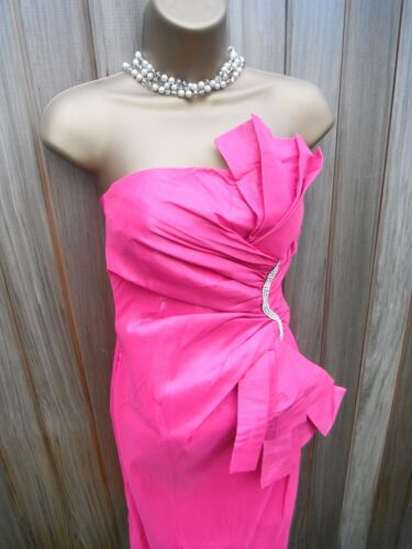 Lovely Origami Fuschia Pink Wedding Party Cocktail Summer Dress