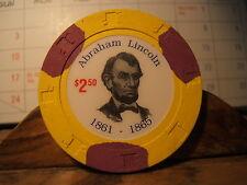 ABRAHAM LINCOLN $2.50 Token  1861- -1865 - - PRESIDENT OF USA CIVIL WAR