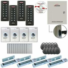 Visionis Four Door Access Control With Software Maglocks Amp Keypadsreaders