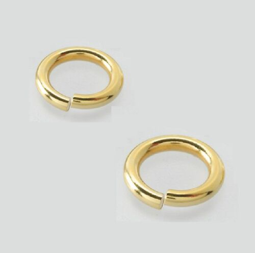 14 K Gold Filled Open Jump Ring  20 Ga.Wire   6 MM O//D  Pkg Of 15   #186F