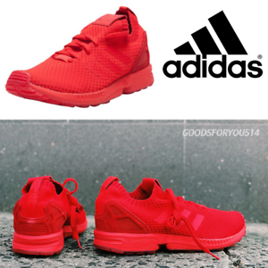 59154ab0c7dd3 Image is loading ADIDAS-ZX-FLUX-PRIMEKNIT-RED-S76497-100-AUTHENTIC