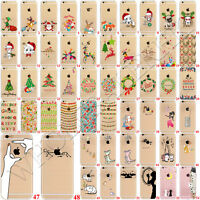 New Christmas Pattern Clear Soft Rubber TPU Back Case Cover For iPhone 6 7 Plus