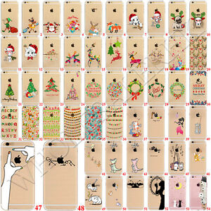New Christmas Patterned Soft Rubber Funda Carcasa Case Cover For iPhone 6 7 Plus