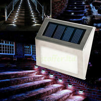 10x Solar Step Lights 3led Solar Powered Stair Lights Outdoor Landscape Lighting