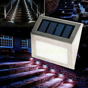 Outdoor Stainless Steel Solar Stair Step Light Deck Lamp