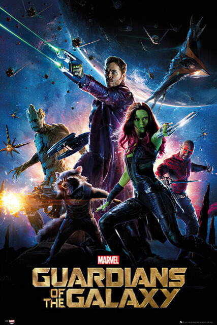 """GUARDIANS OF THE GALAXY ROCKET /& GROOT MOVIE POSTER SIZE: 24/"""" x 36/"""""""