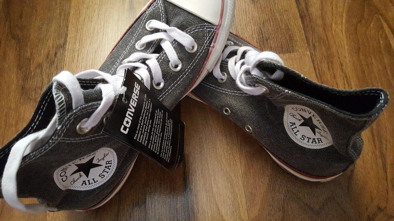 BNWTB trendy Converse AllStar Unisex size UK4.5 Chuck Taylor Pro Hi Black/White