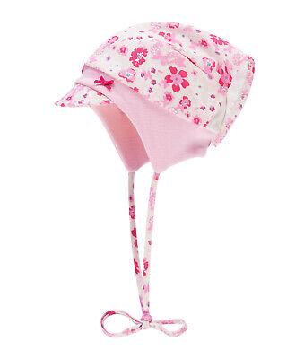 DÖLL® Baby Mädchen Sonnenhut Hut Nackenschutz Mütze Blumen 39-49 S 2019 NEU!