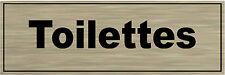 Plaque de porte aluminium brossé Signalétique de porte- Toilettes