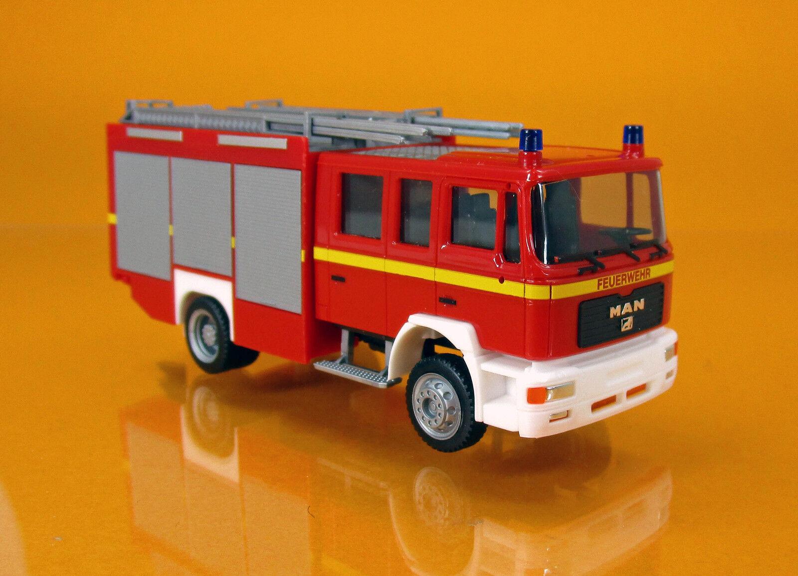 Herpa 092906 Man m2000 HLF pompiers neutre Imprimé Scale 1 87 Nouveau neuf dans sa boîte