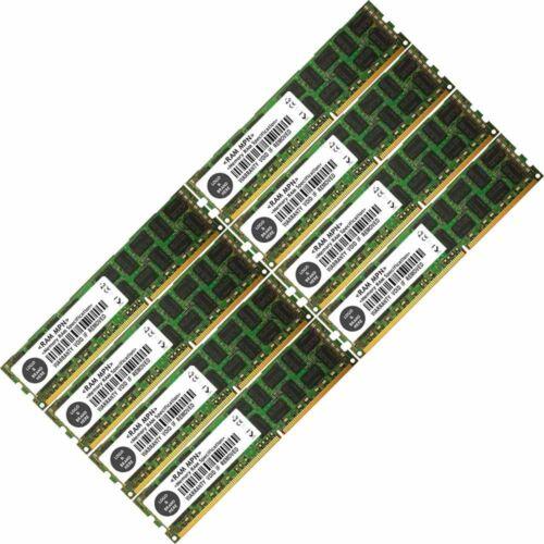Memory Ram 4 Server DDR3 PC3 10600 1333 MHz 240 Pin RDIMM ECC Registered  2x Lot