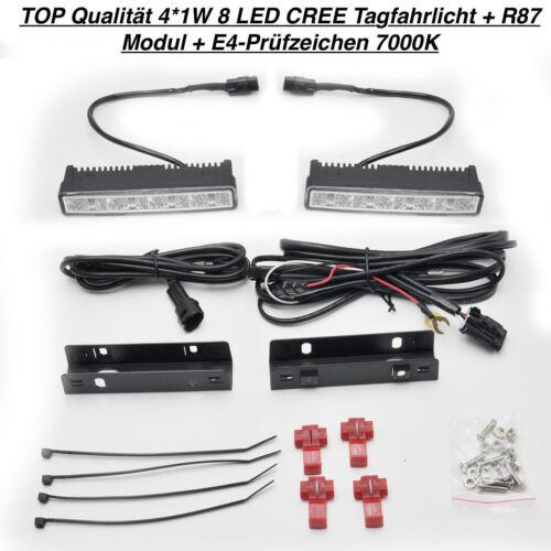 R87 Modul TOP Qualität 4*1W 8 LED CREE Tagfahrlicht E4-Prüfzeichen Nissan