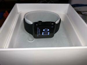 Apple Watch 42mm Stainless Steel Case Black Sport Band   (Mj3 U2 Ll/A Series 1 by Apple