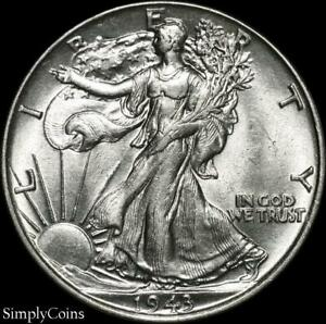 1943-Walking-Liberty-Silver-Half-Dollar-AU-About-Uncirculated-US-Coin-MQ