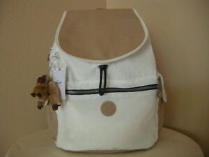 Authentic-Kipling-BP4050-Ravier-Back-Pack-White-Tan