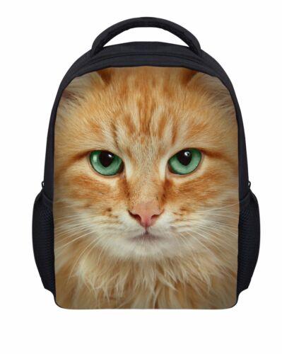 """12/"""" Baby Toddler Kids Mini Backpack School Shoulder Bag horse pug cat Bookbag"""