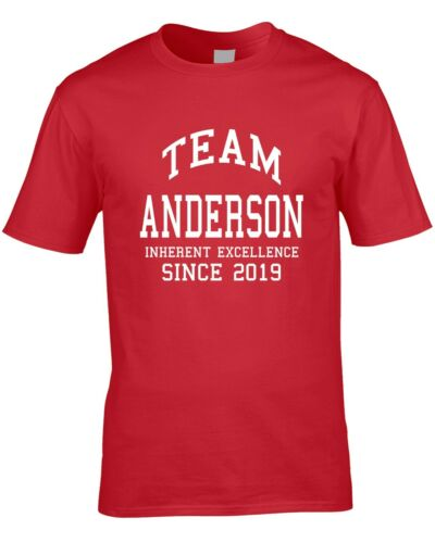 Équipe Anderson Nom T-shirt homme personnalisé cadeau nom famille College Toute Année Cool