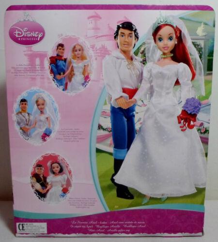 DISNEY SIMBA PRINCESS ARIEL THE LITTLE MERMAID BRIDE WEDDING 12/'/' DOLL SEALED