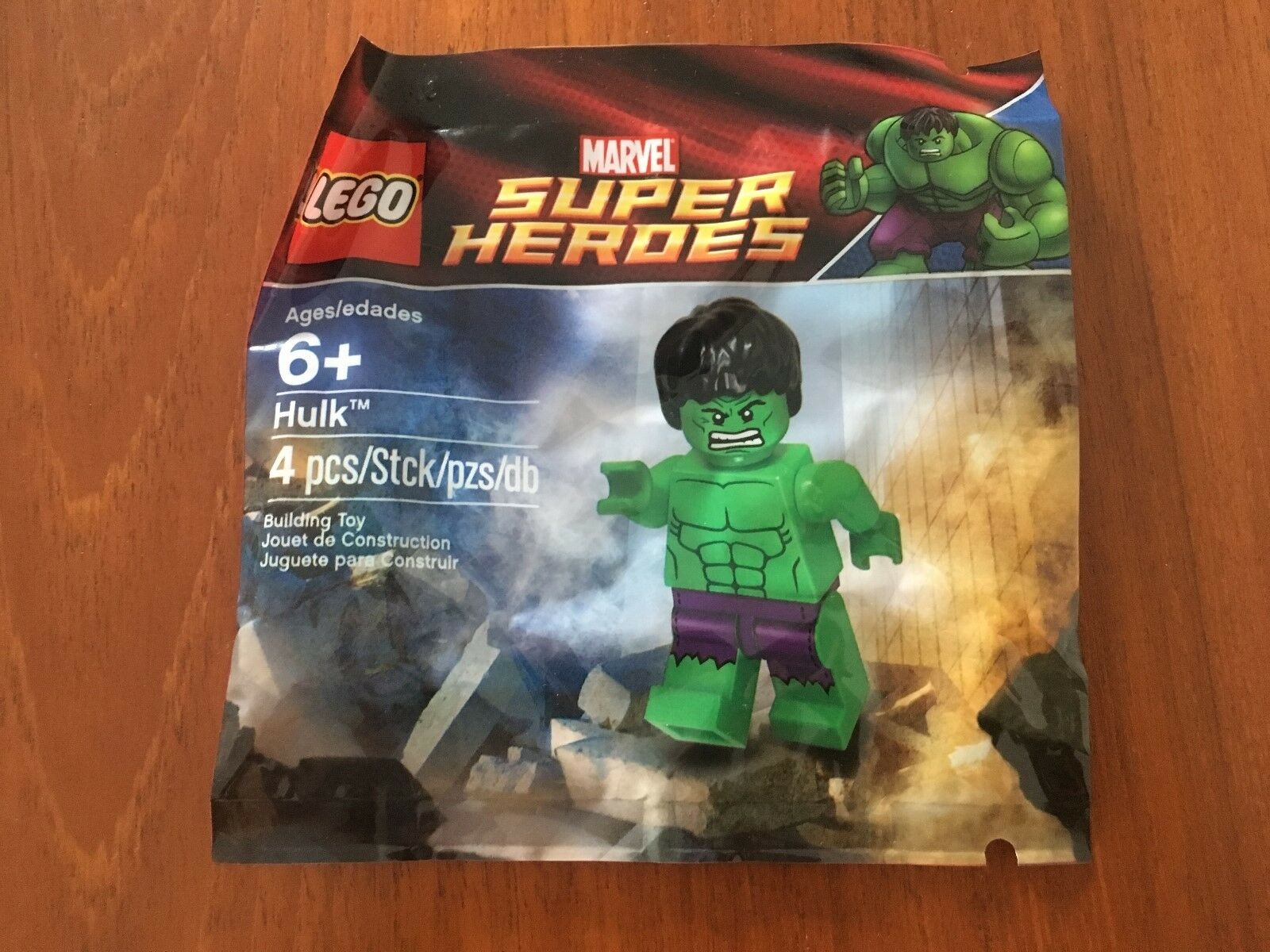 SEALED  LEGO Marvel Super Heroes - Hulk Avengers Minifigure Polybag 5000022