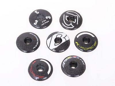 Hot MTB Bike Bicycle Full Carbon Fiber Handlebar Stem Headset Top Cap Cover 1PCS