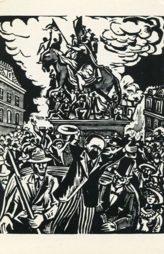 Ballad of Francisco Madero•Art by Leopoldo Mendez•Art Postcard