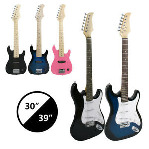Electric-Guitar-30-034-39-034-Full-Size-Black-Includes-Guitar-Pick-amp-Accessories-NEW