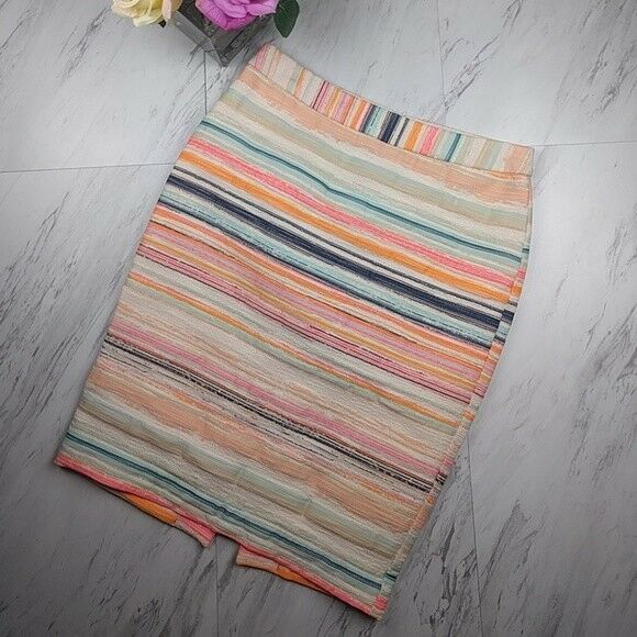 NWT Trina Turk Pastel Striped Pencil Dorris Skirt 248 SZ2 Career